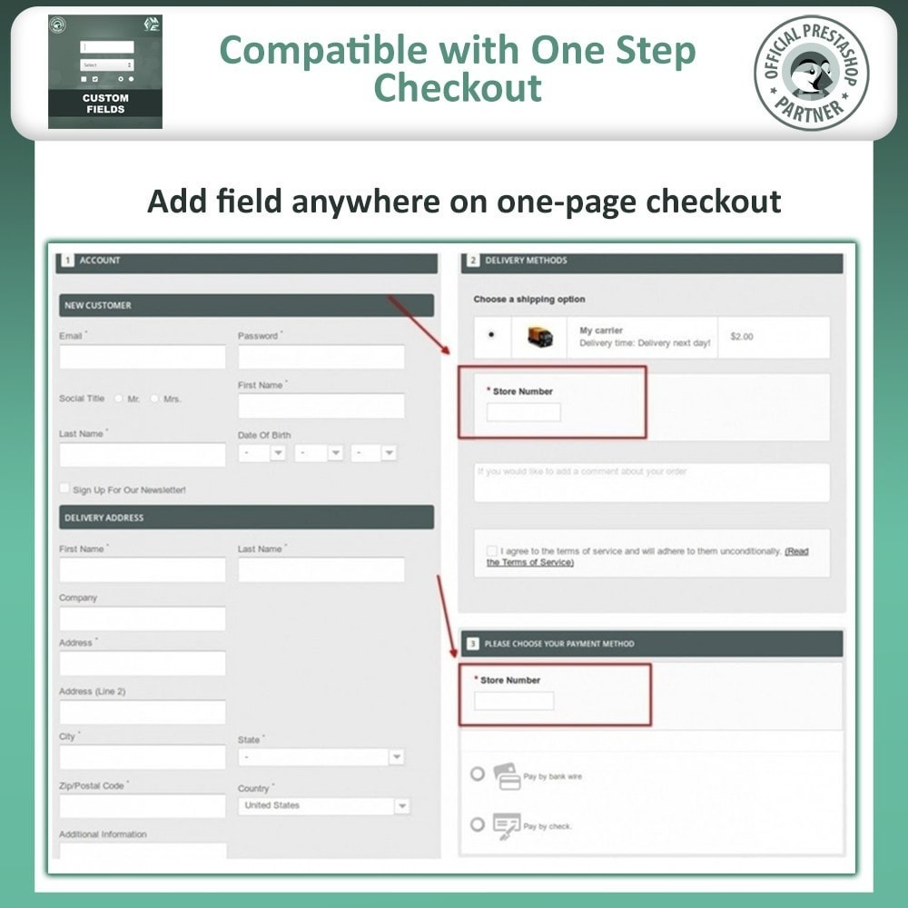 module - Registration & Ordering Process - Custom Fields, Add Extra Fields to Checkout | Order - 3