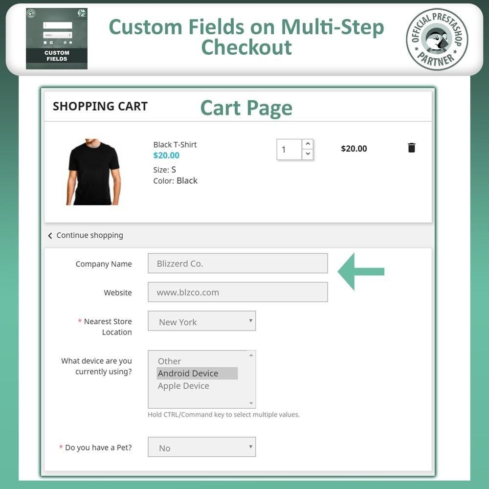 module - Cadastro e Processo de Pedido - Custom Fields, Add Extra Fields to Checkout | Order - 4