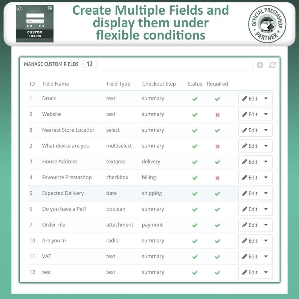 module - Inscripción y Proceso del pedido - Custom Checkout Fields - Campo de Pedido Personalizado - 9