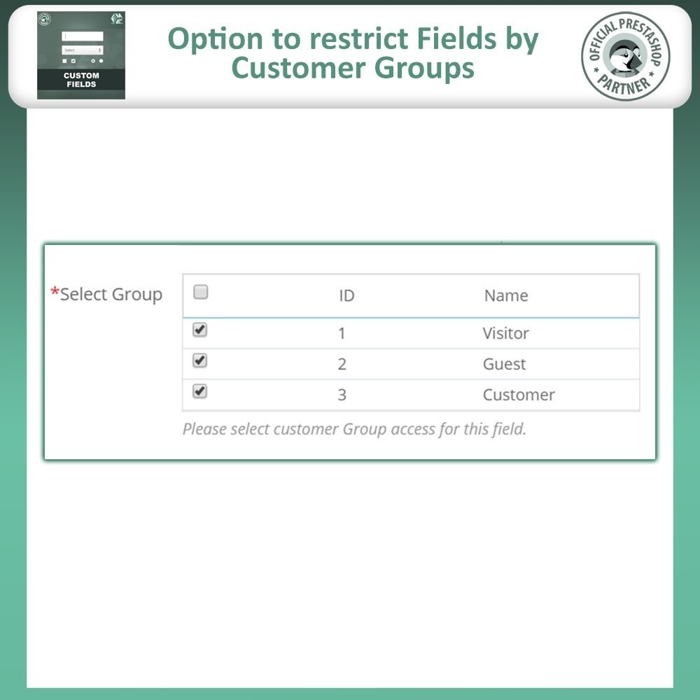 module - Cadastro e Processo de Pedido - Custom Fields, Add Extra Fields to Checkout | Order - 13