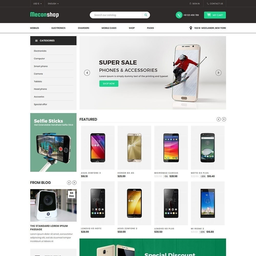 theme - Электроника и компьютеры - Mecon Mobile - Магазин электроники - 4