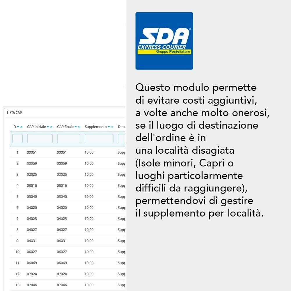 module - Spese di Spedizione - SDA - 2