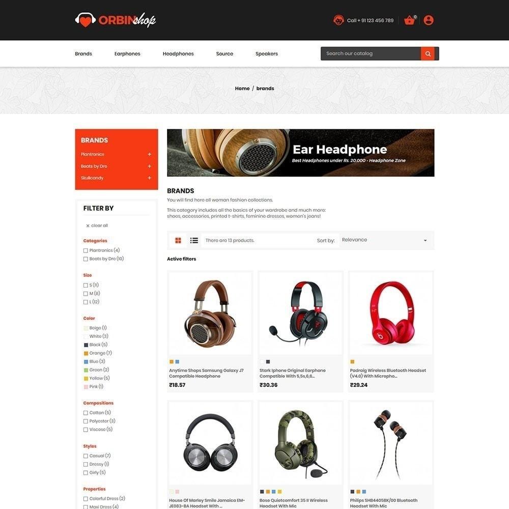 theme - Eletrônicos & High Tech - Orbin Electronics Mobile - loja de informática - 3