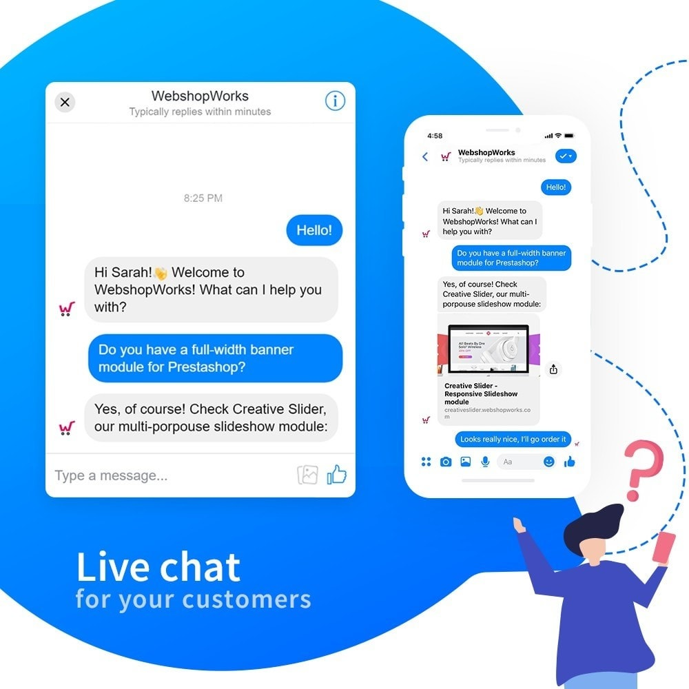 module - Suporte & Chat on-line - Messenger - Customer Live Chat - 3