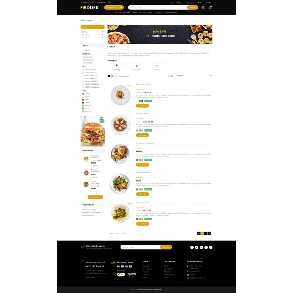 theme - Food & Restaurant - Fodder - Online Restaurant Store - 4