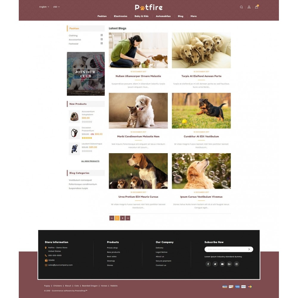 theme - Animals & Pets - Petfire - Animals Store - 9