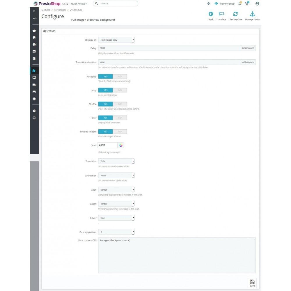 module - Sliders & Galerias - Full Screen Background Image with Slider - 1