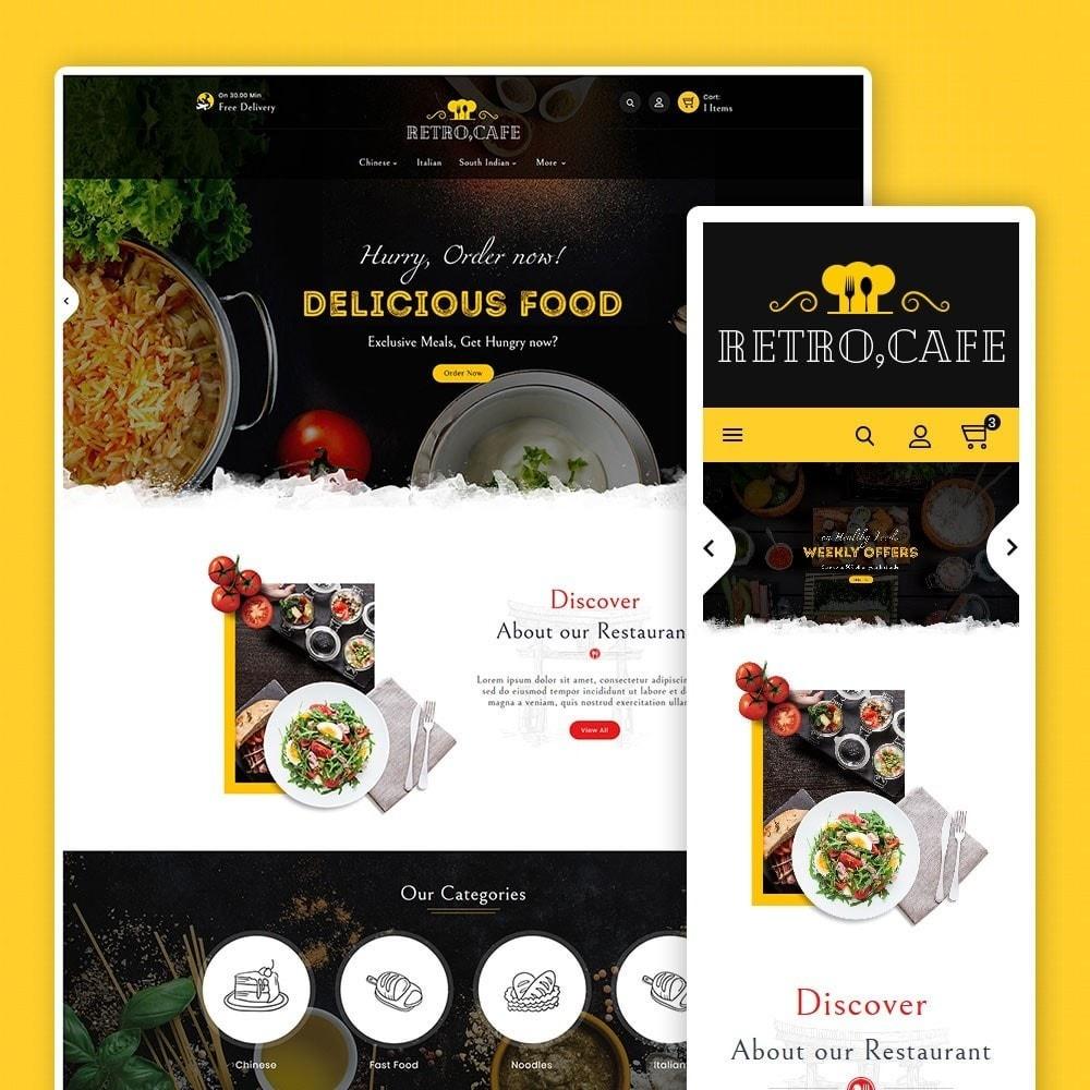 theme - Alimentos & Restaurantes - Retro Cafe - Food & Dishes - 1