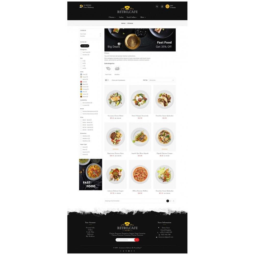 theme - Alimentos & Restaurantes - Retro Cafe - Food & Dishes - 3