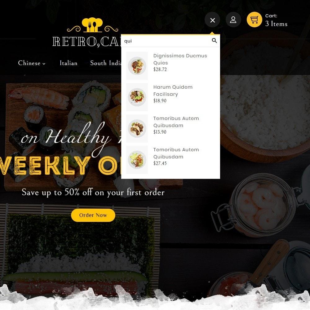 theme - Alimentos & Restaurantes - Retro Cafe - Food & Dishes - 10
