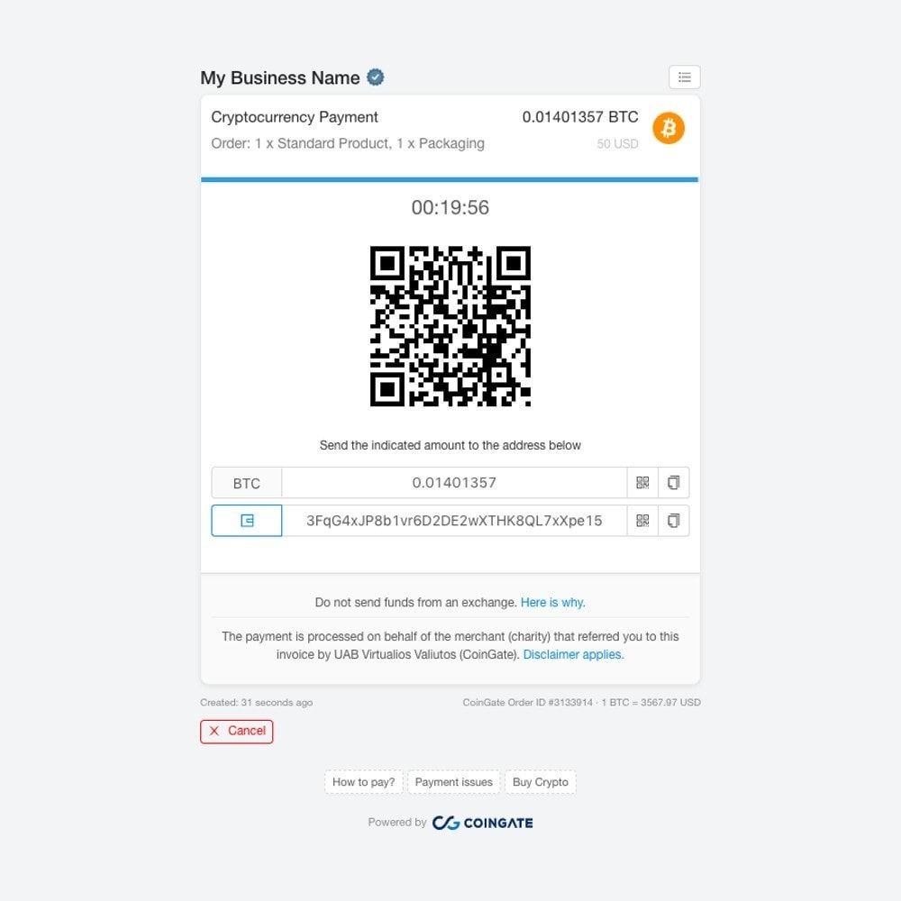 module - Other Payment Methods - Accept Bitcoin and 50+ Cryptocurrencies with CoinGate - 2