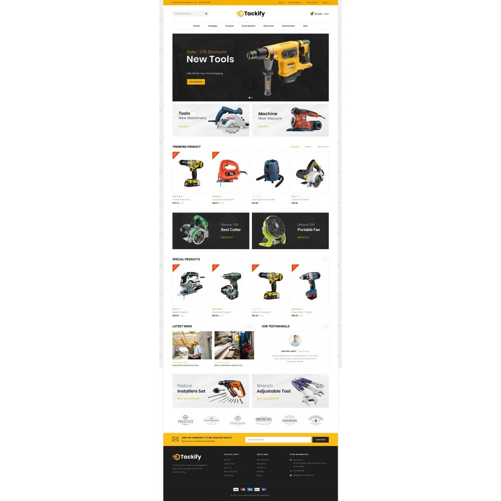 theme - Elektronika & High Tech - Tackify - Tools Store - 2