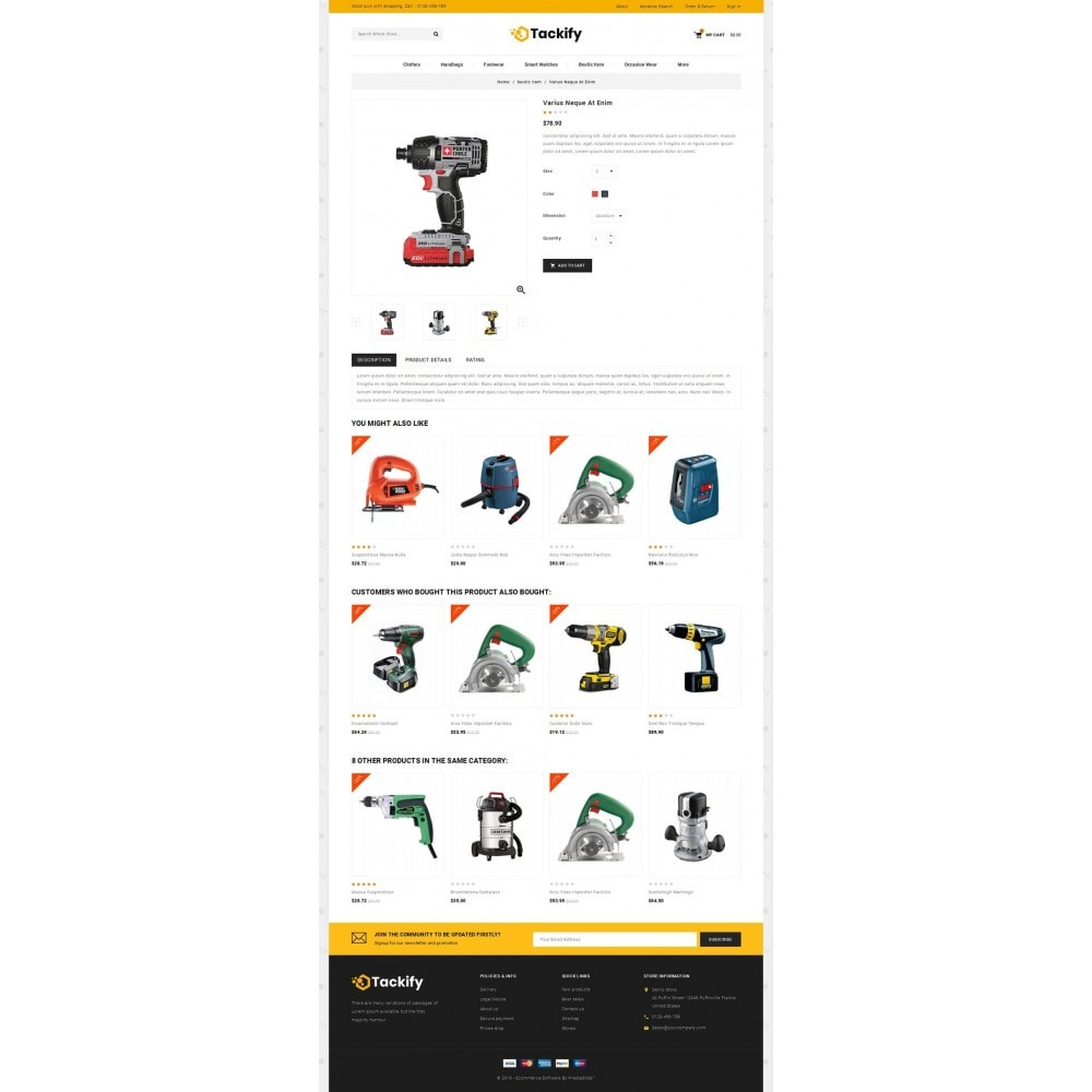 theme - Elektronika & High Tech - Tackify - Tools Store - 4