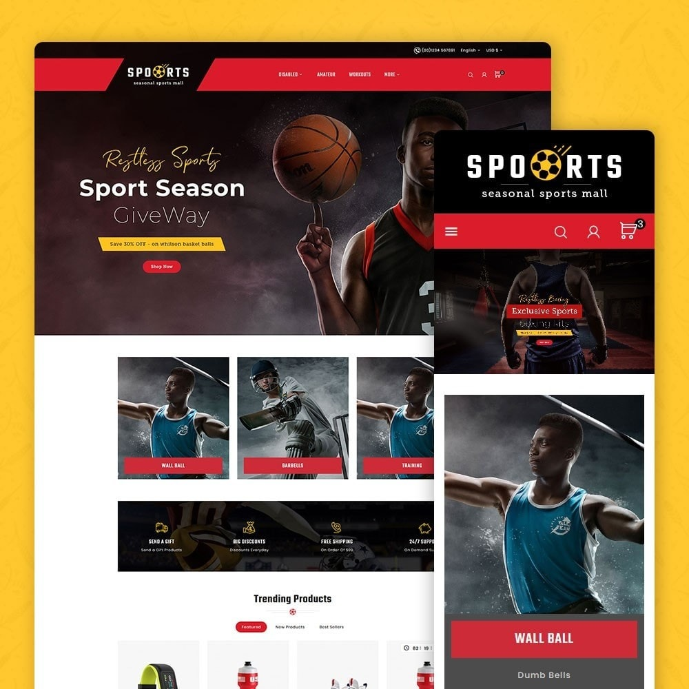 theme - Desporto, Actividades & Viagens - Sports - Seasonal Activities Mall - 1