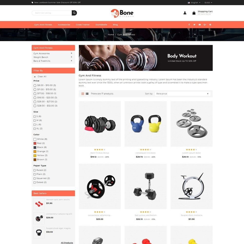 theme - Deportes, Actividades y Viajes - Bone Fitness Store - 3