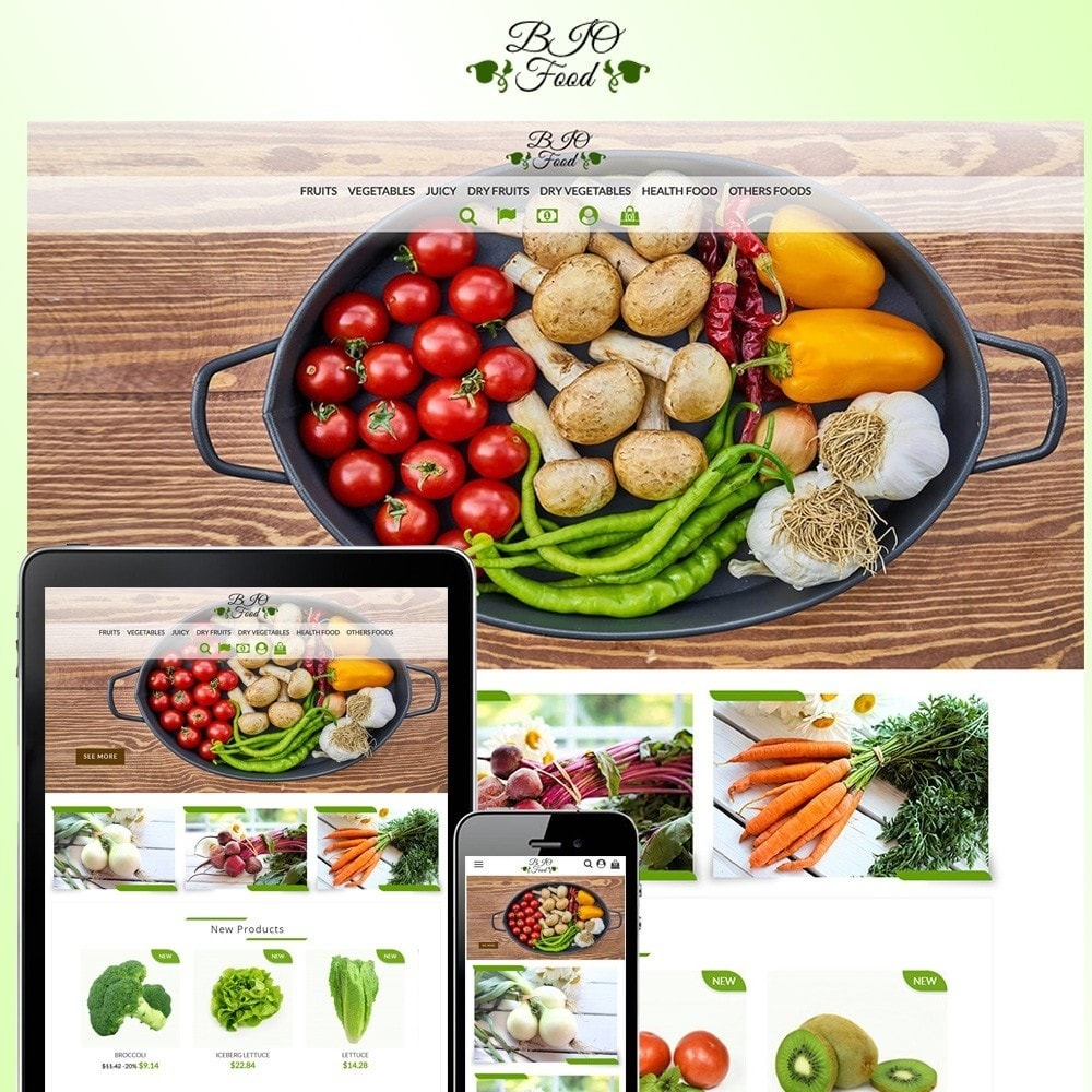 theme - Alimentos & Restaurantes - Bio Food - 1
