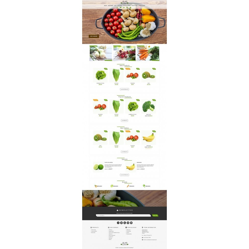 theme - Alimentation & Restauration - Bio Food - 2