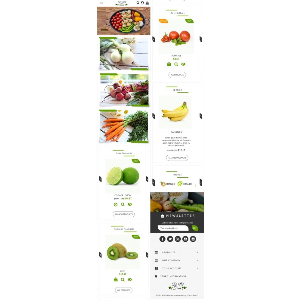theme - Alimentos & Restaurantes - Bio Food - 5