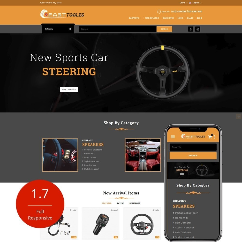 theme - Automotive & Cars - Fast Tools - 1