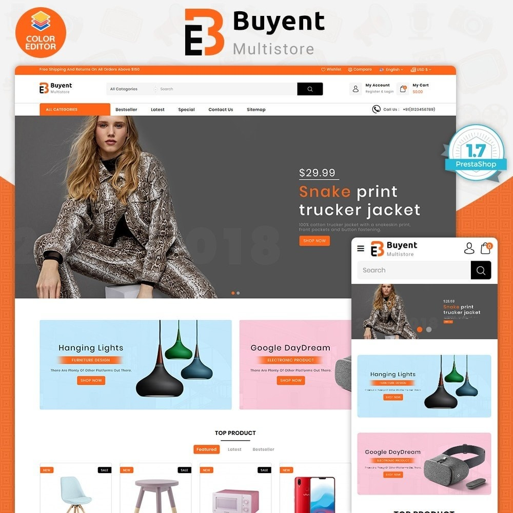theme - Electronics & Computers - Buyent - The Best MultiStore Theme - 1