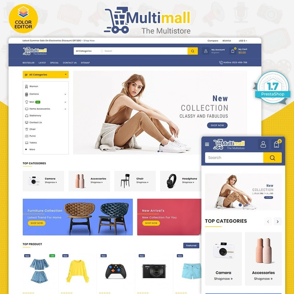 theme - Electronics & Computers - Multimall - The Best MultiStore - 1