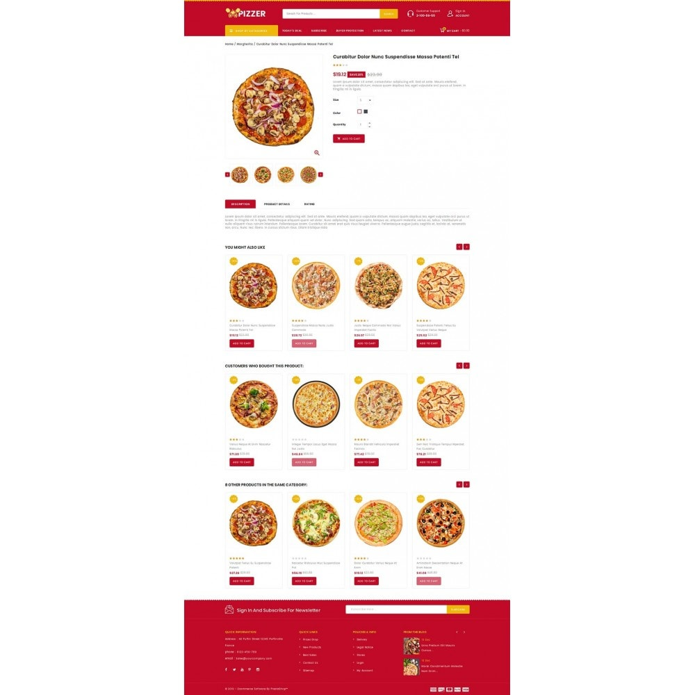 theme - Lebensmittel & Restaurants - Pizzer - Restaurant Store - 4