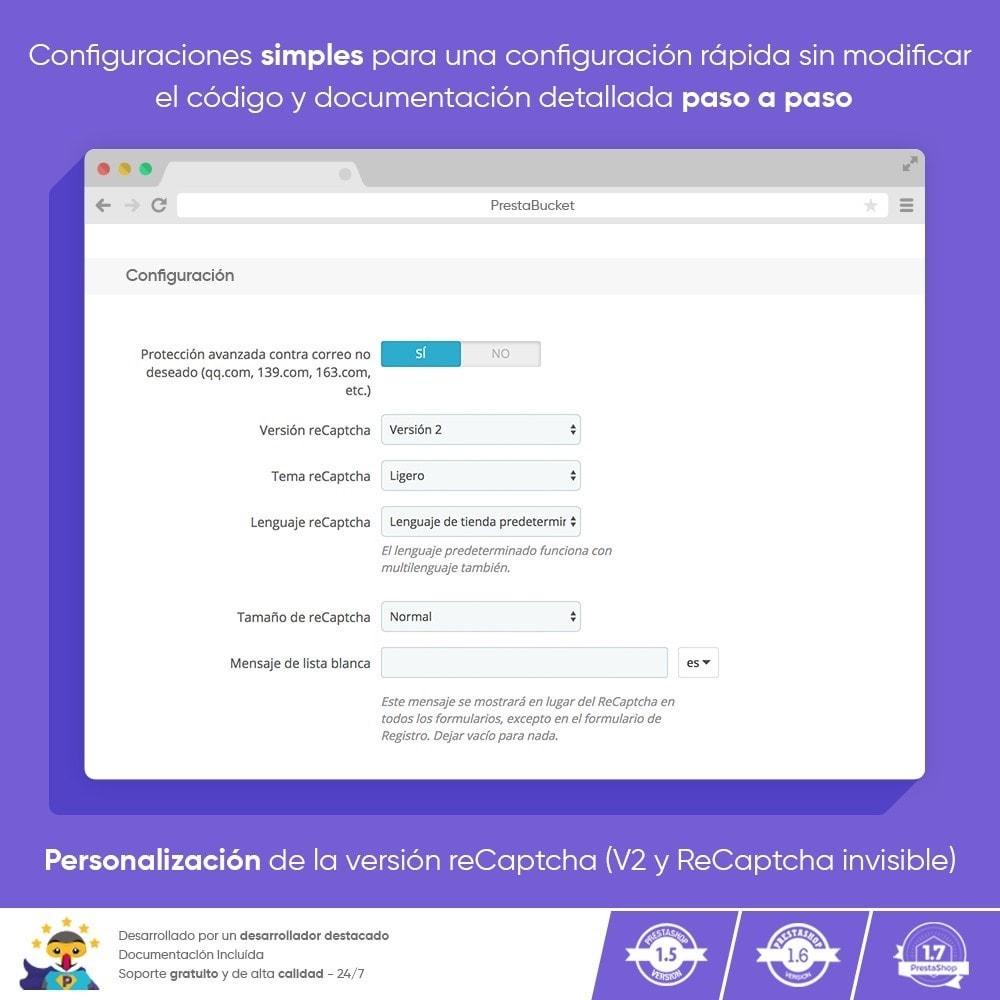 module - Seguridad y Accesos - CAPTCHA Google reCAPTCHA PRO + anti Cuentas Falsas - 4