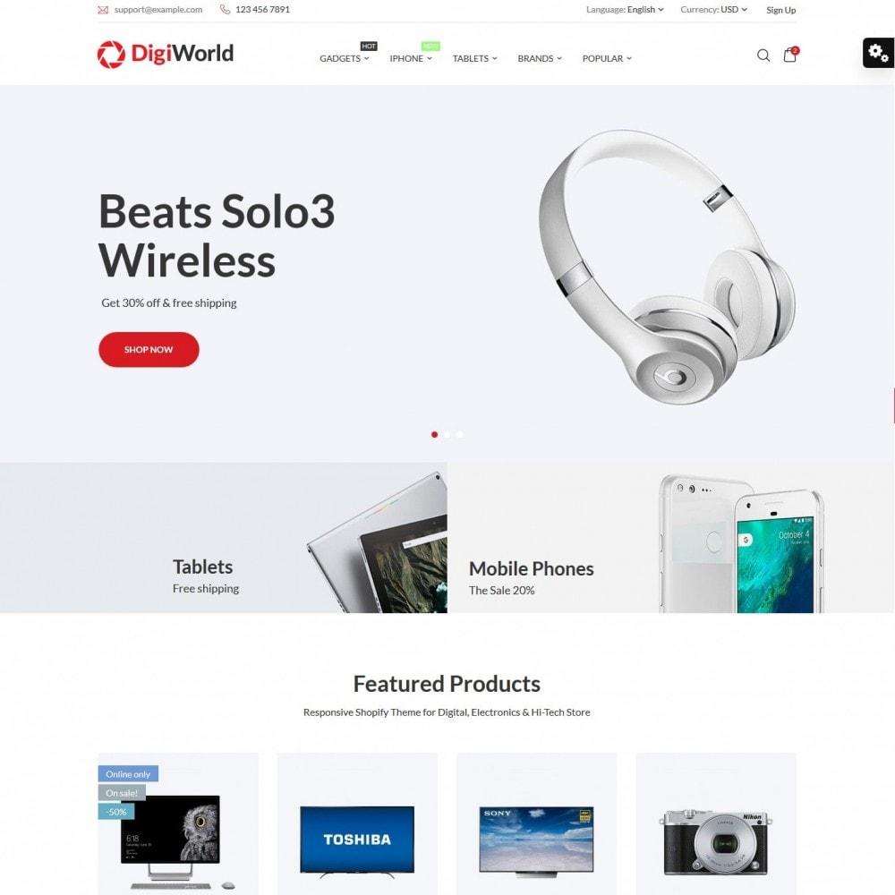 theme - Electronics & Computers - DigiWorld - High-tech Shop - 1