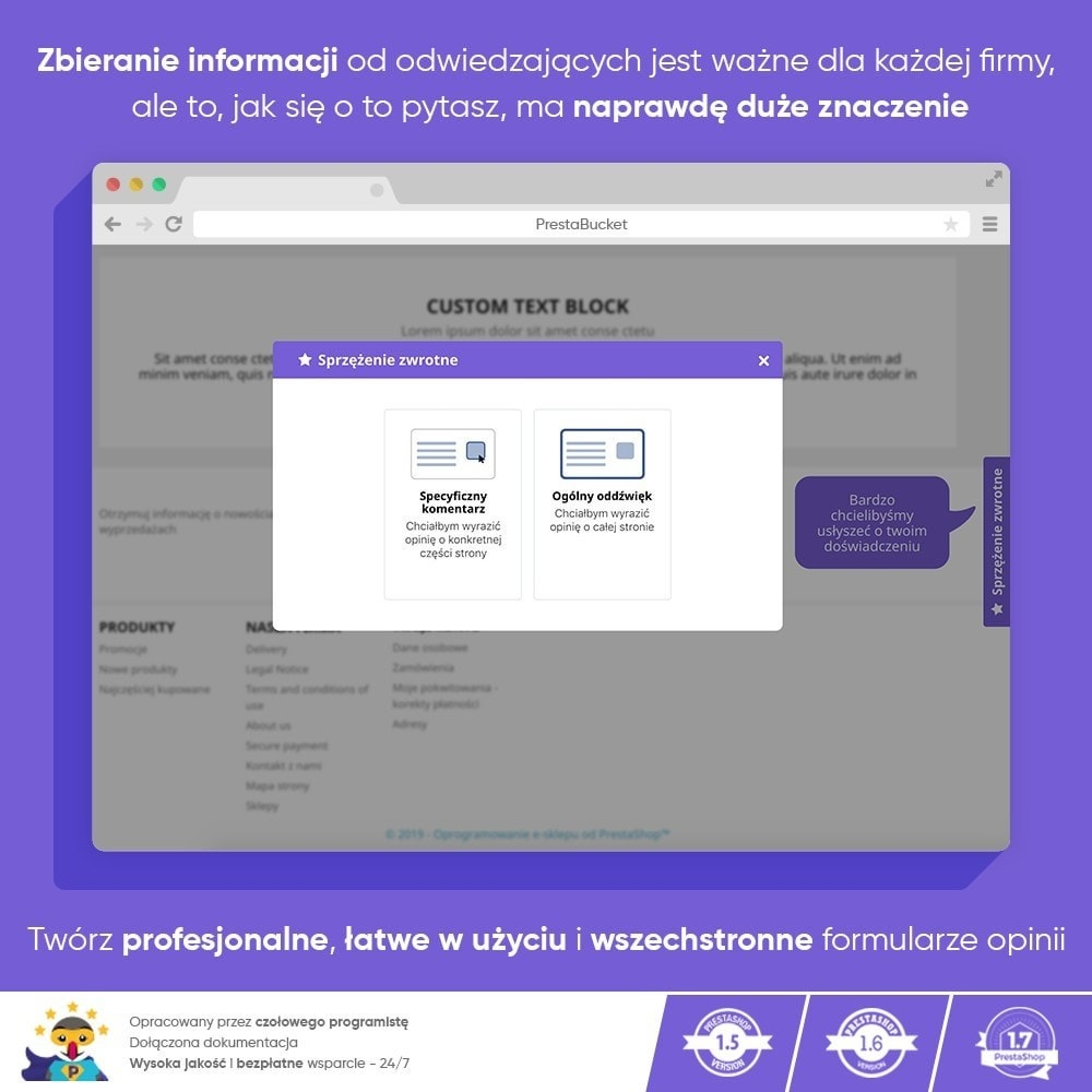 module - Opinie klientów - Klient INFORMACJE ZWROTNE Zbieraj Istotne Informacje - 9