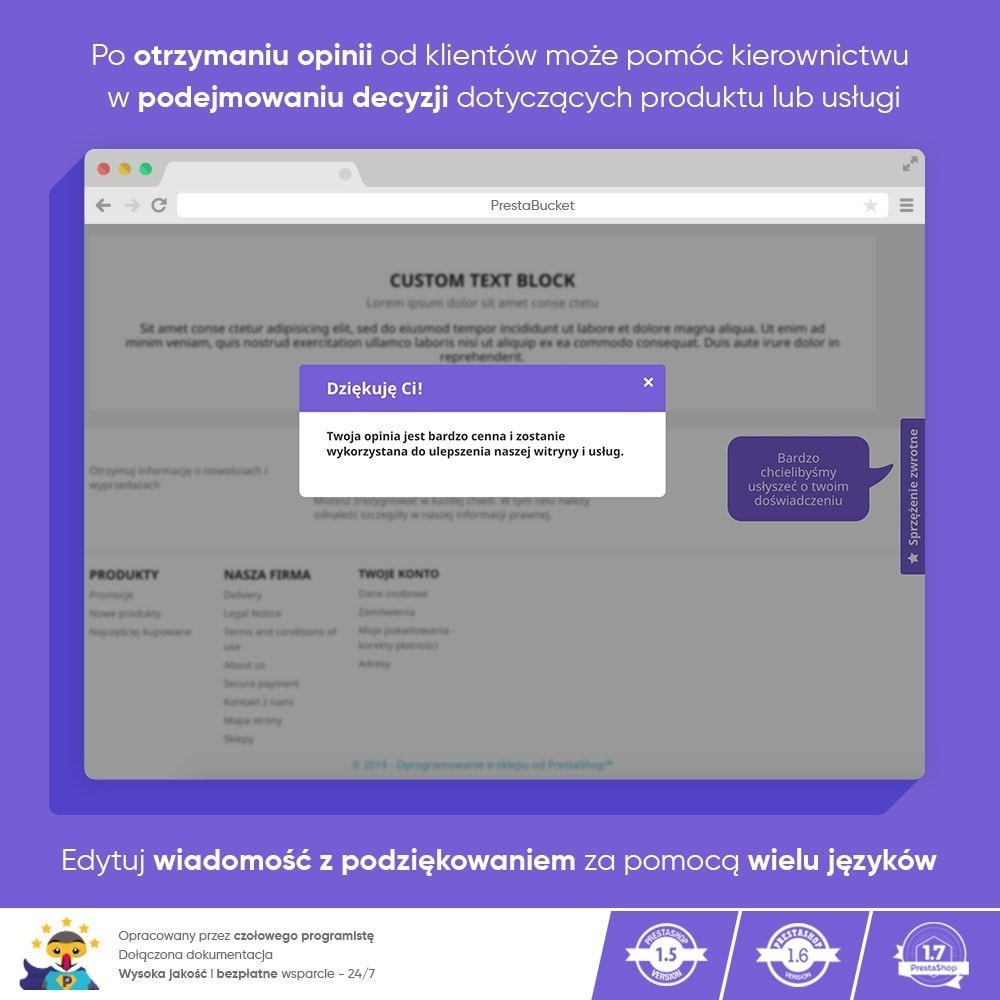 module - Opinie klientów - Klient INFORMACJE ZWROTNE Zbieraj Istotne Informacje - 10