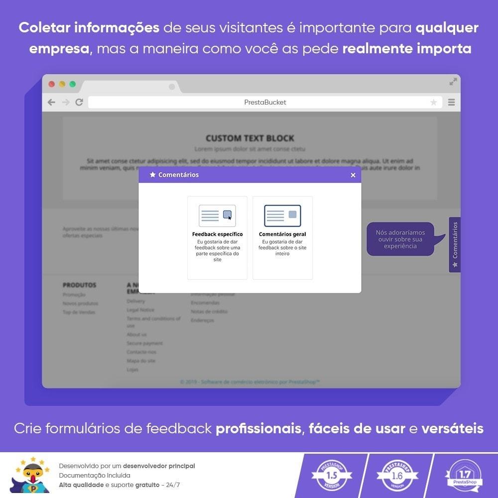 module - Opiniões de clientes - Cliente Avançado FEEDBACK Coletar Informações Vitais - 9