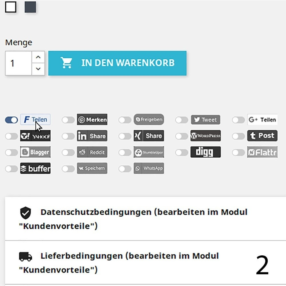 module - Juridisch - GDPR Protect Social Sharing Plugins Pro - 2