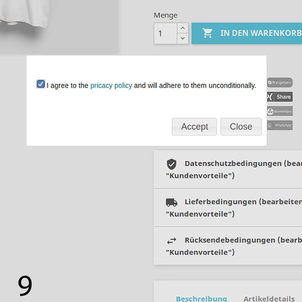 module - Rechtssicherheit - DSGVO Social Media Share Buttons Pro 2019 - 9