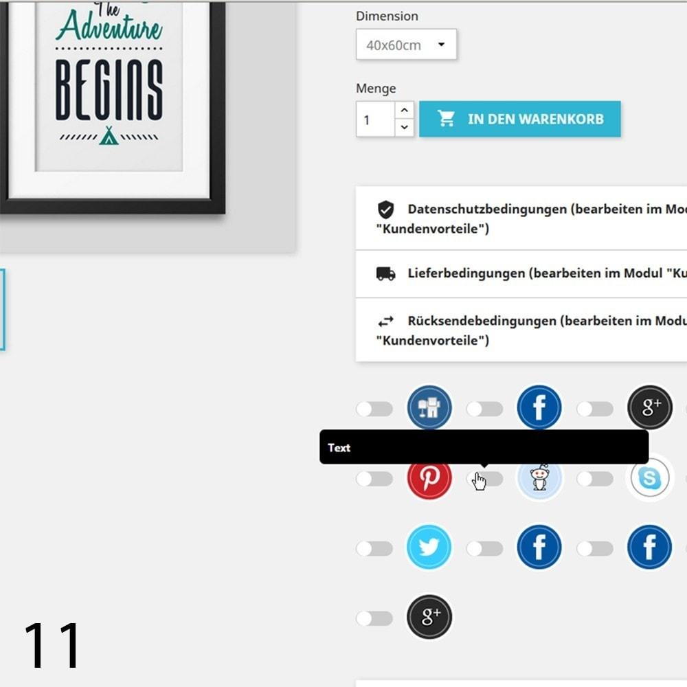 module - Rechtssicherheit - DSGVO Social Media Share Buttons Pro 2019 - 11