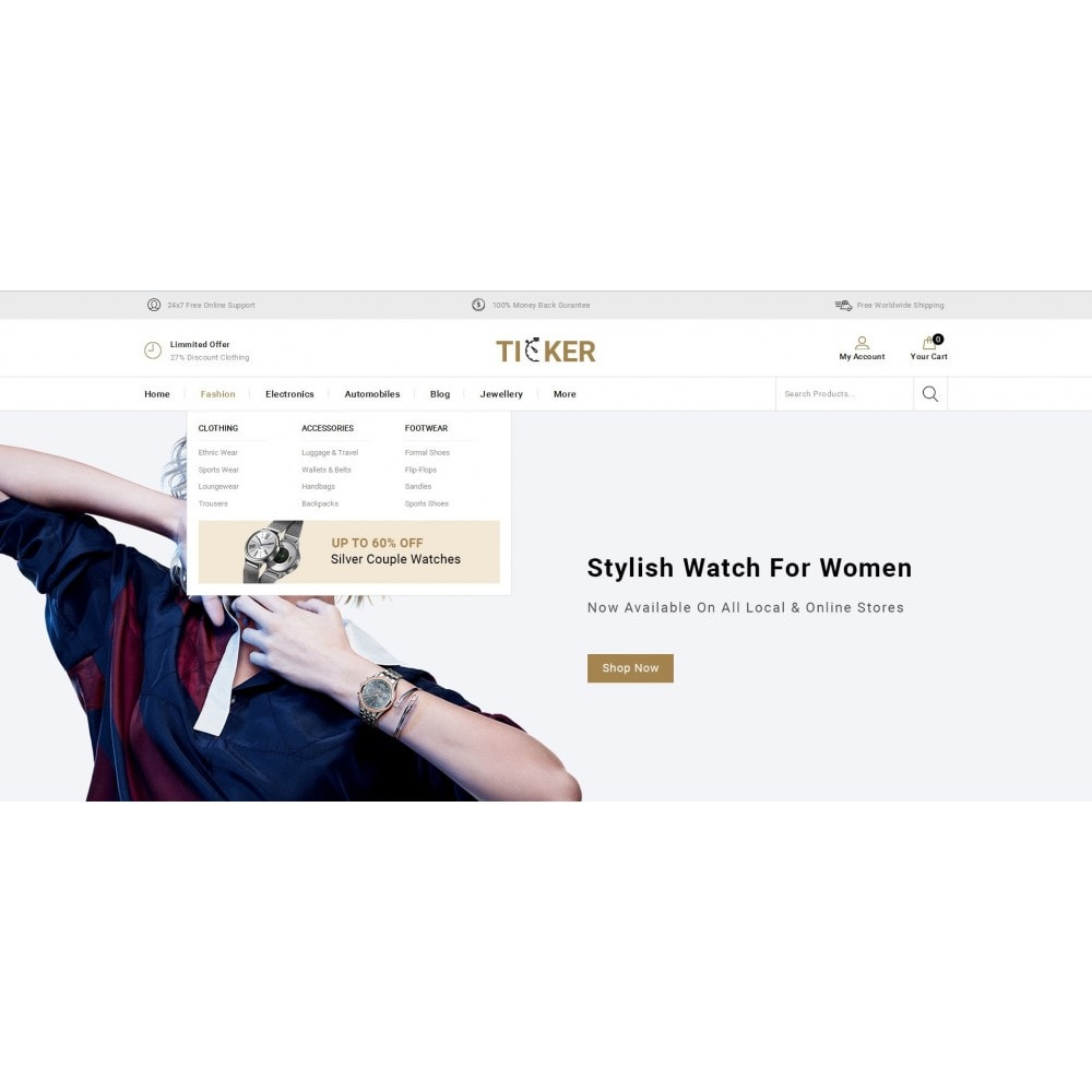 theme - Jewelry & Accessories - Ticker - Watch Store - 6