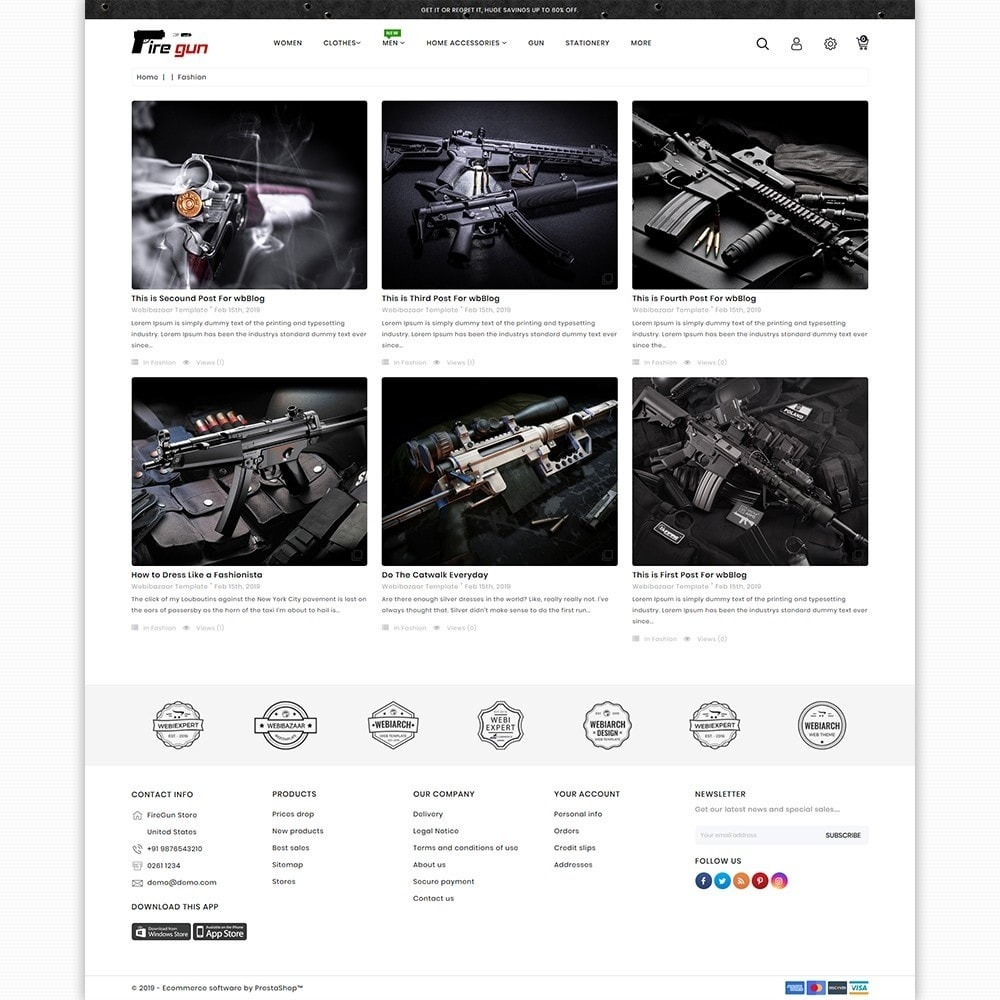 theme - Sports, Activities & Travel - Firegun - Gun & Weapons Store - 6