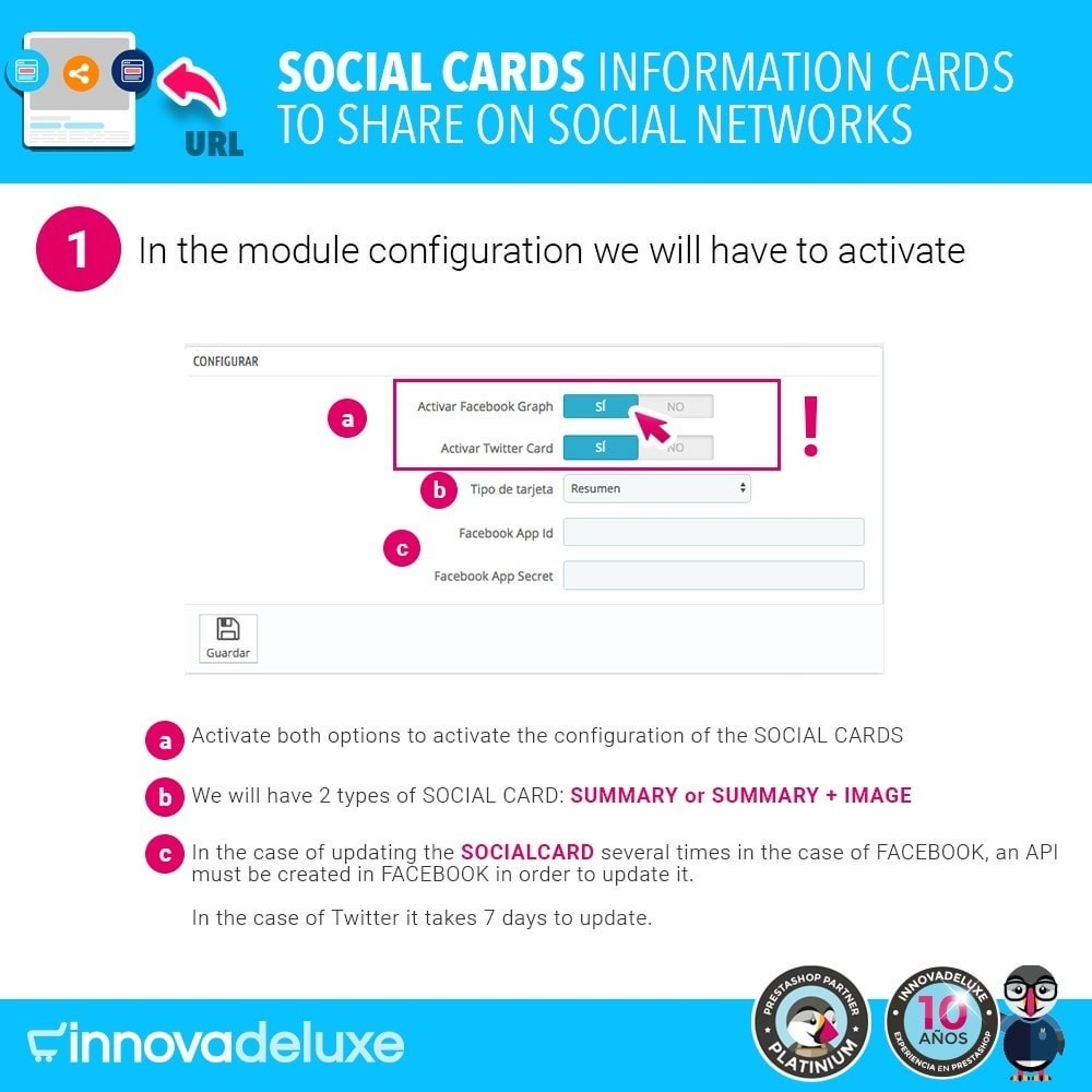 module - Deelknoppen & Commentaren - SocialCards, cards to share on social networks - 2