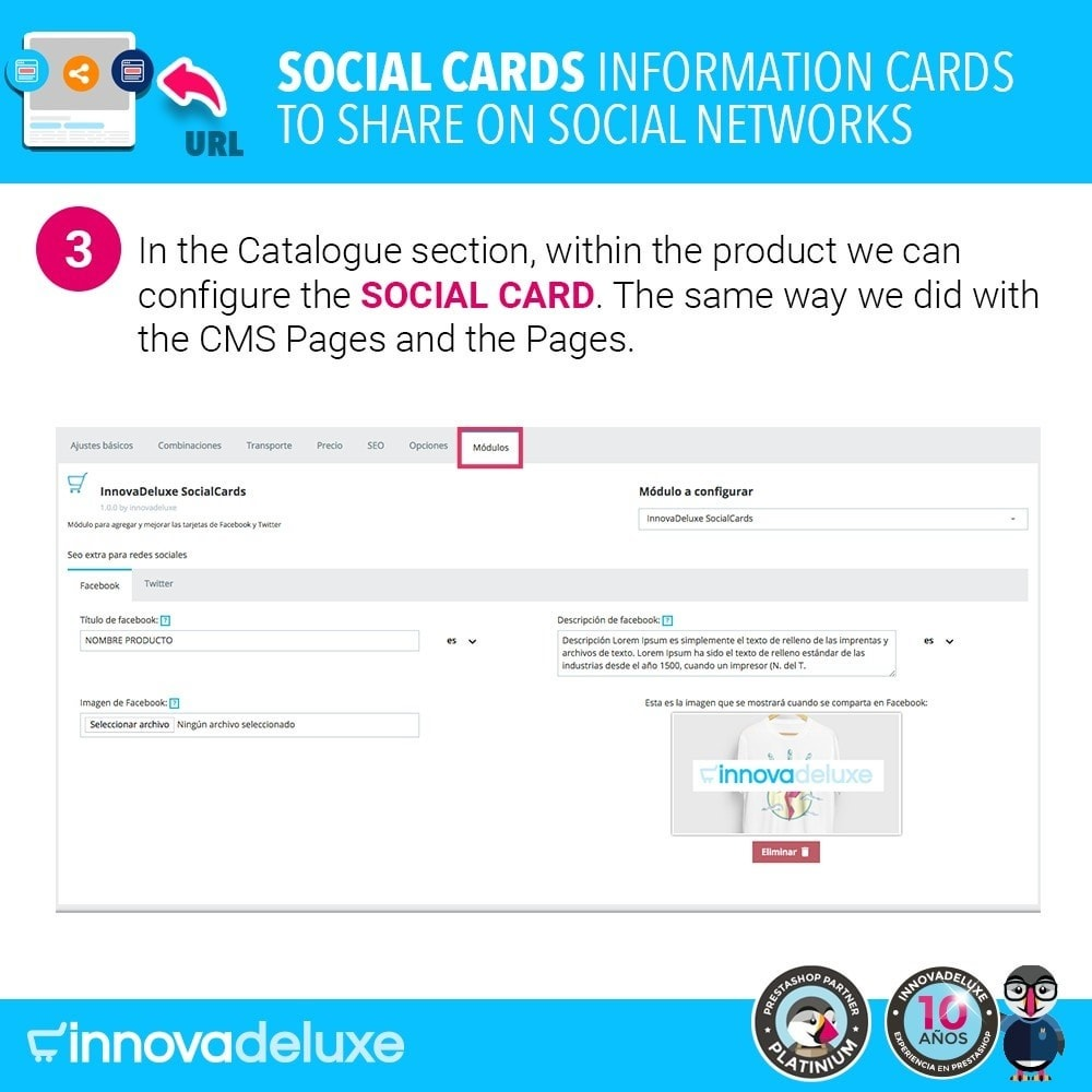 module - Deelknoppen & Commentaren - SocialCards, cards to share on social networks - 4
