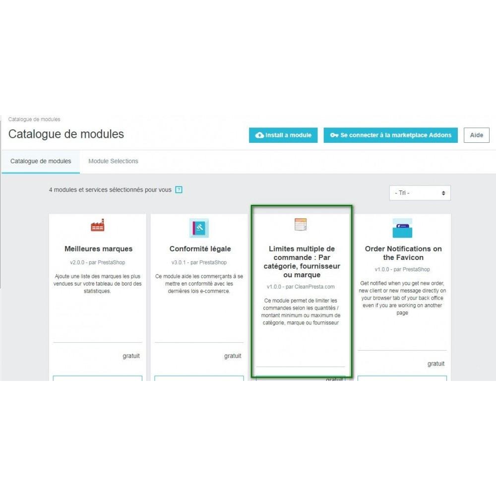 module - Cadastro e Processo de Pedido - Multiple Order Limits : By Category, Supplier or Brand - 6