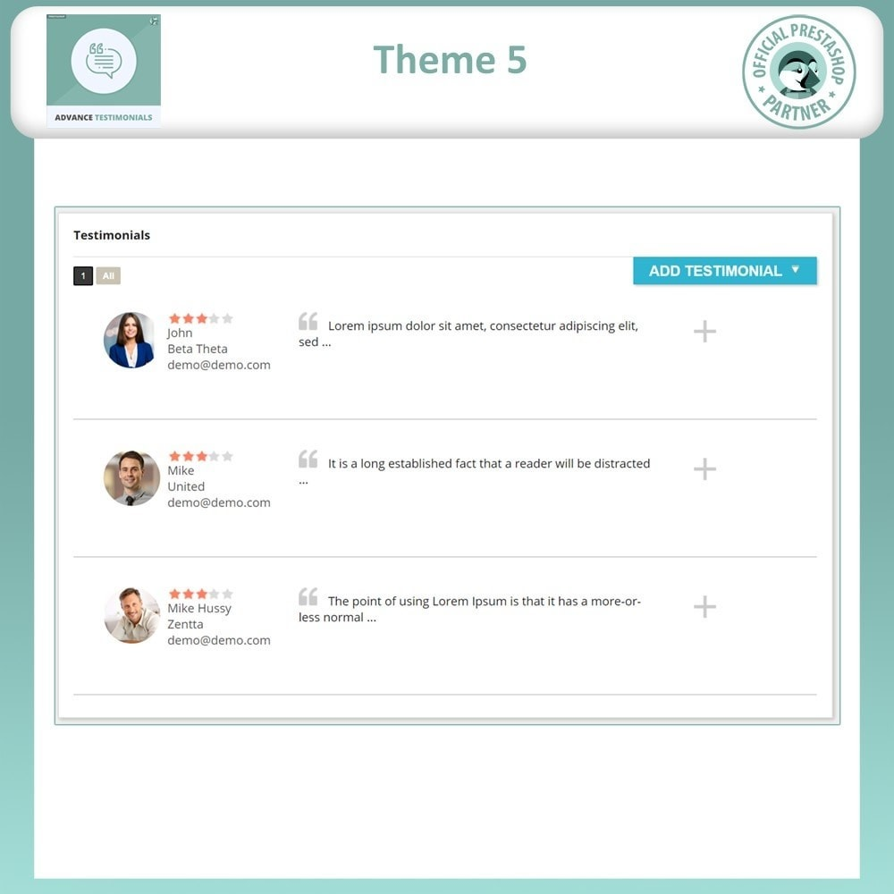 module - Recensioni clienti - Advance Testimonials - Customer Reviews with Pictures - 7