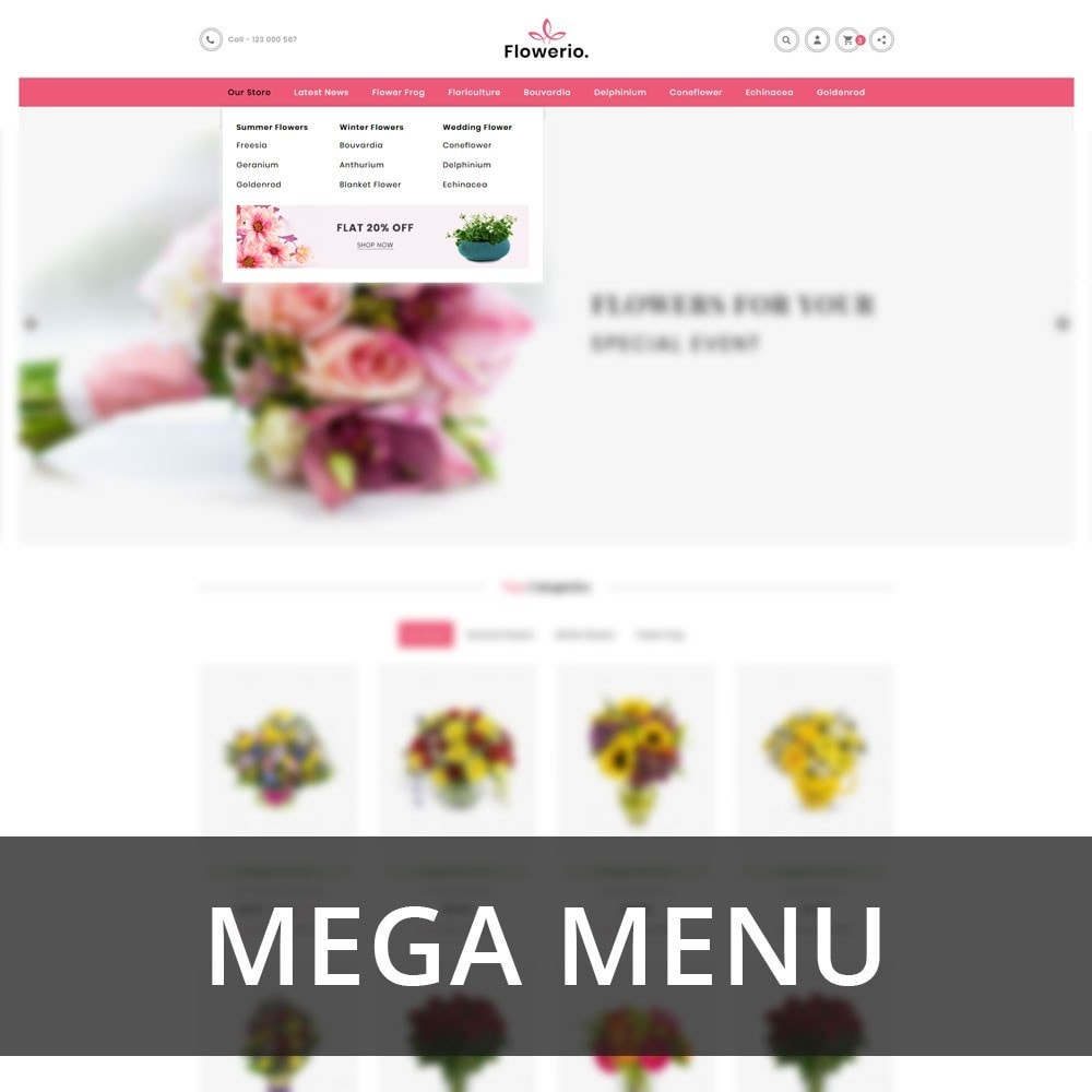 theme - Cadeaus, Bloemen & Gelegenheden - Flowerio - The Flower Shop - 8