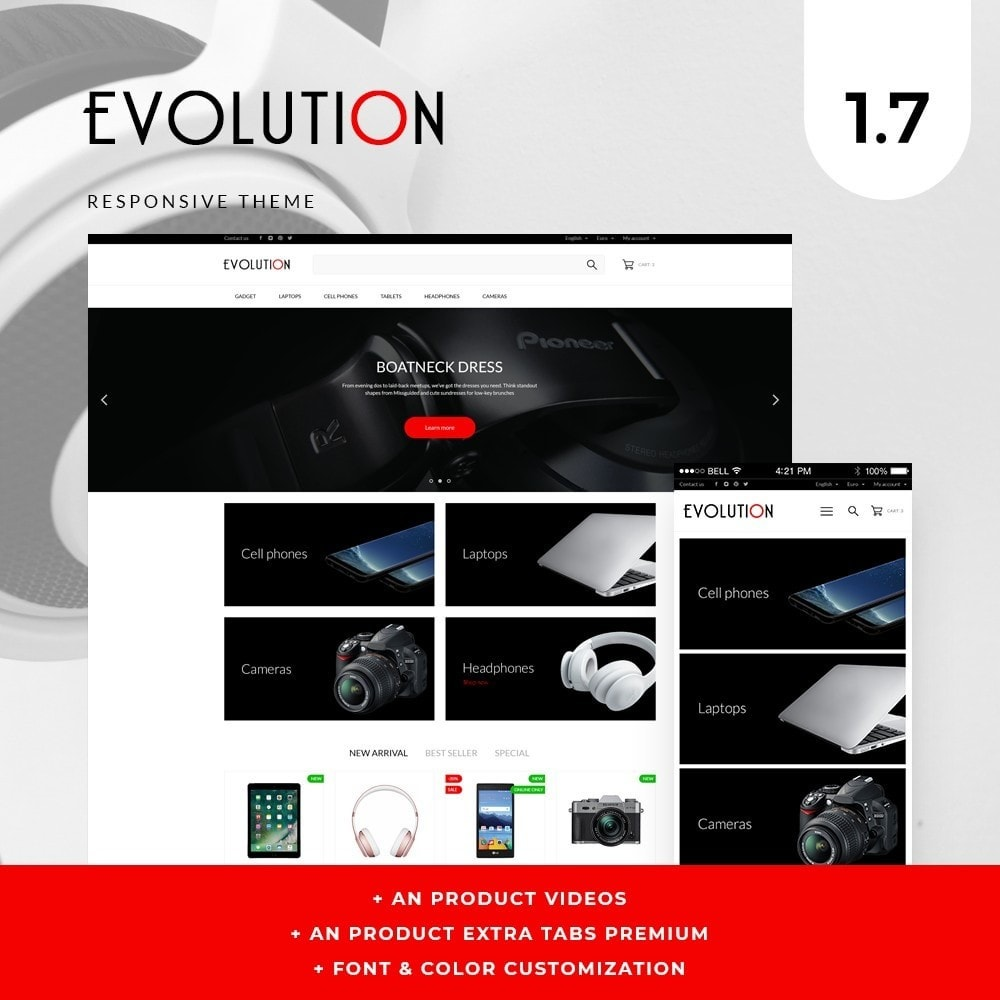 theme - Electronics & Computers - Evolution - High-tech Shop - 1