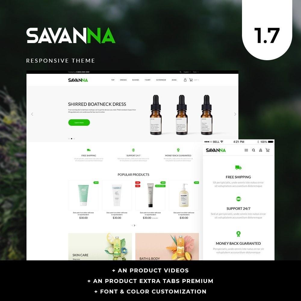 theme - Saúde & Beleza - Savanna Cosmetics - 1