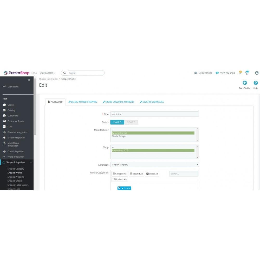 module - Integración con CRM, ERP... - CedCommerce Shopee Integration - 9