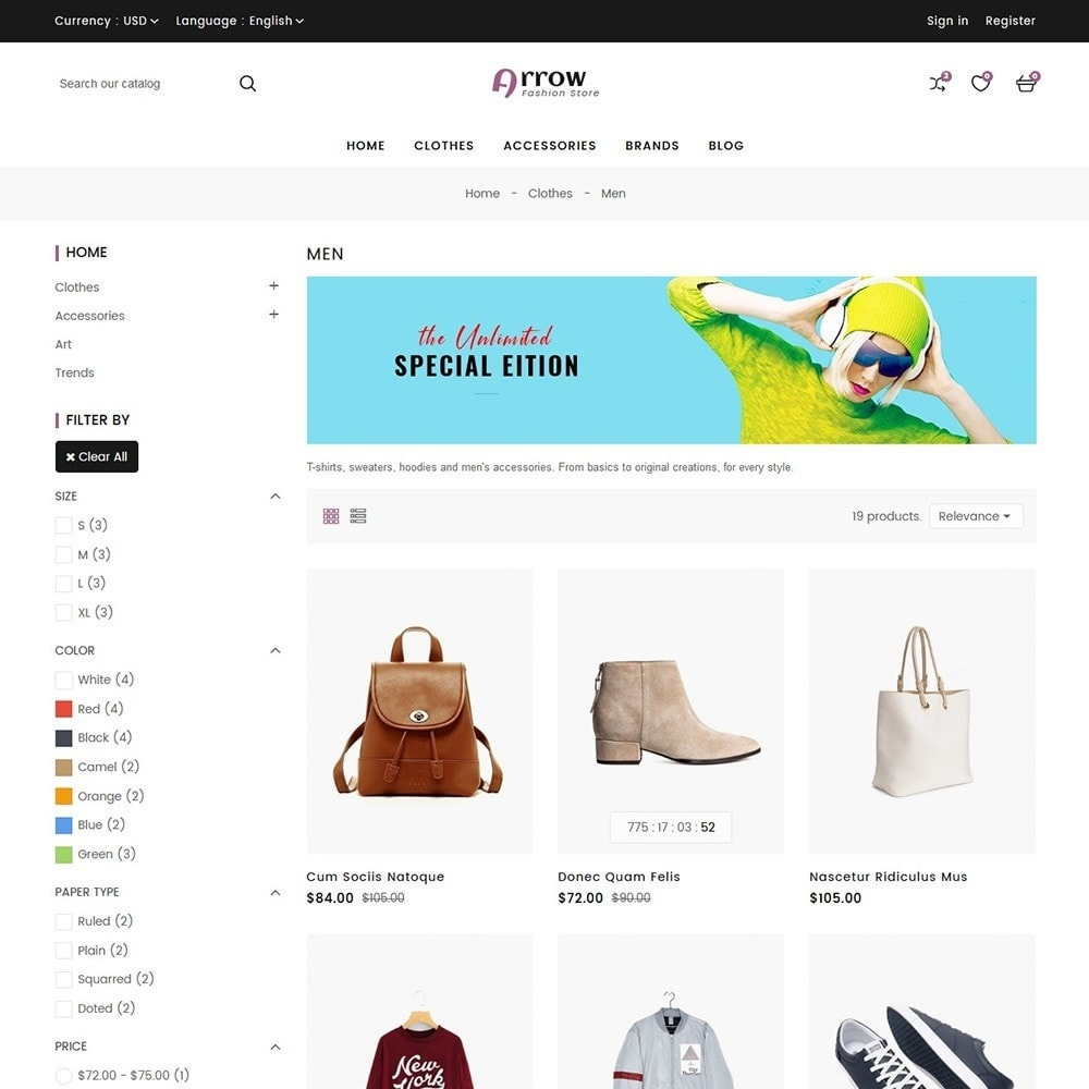 theme - Moda y Calzado - Arrow Fashion Store - 5