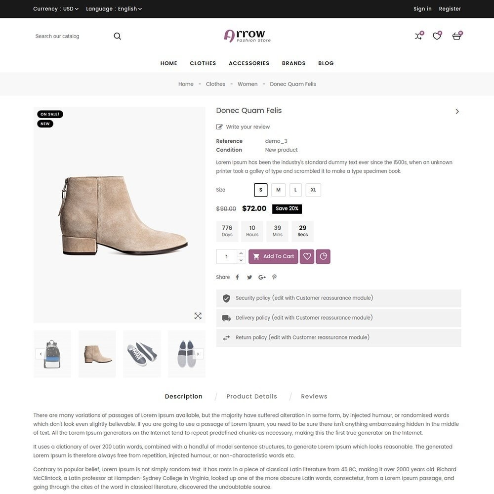 theme - Mode & Chaussures - Arrow Fashion Store - 7