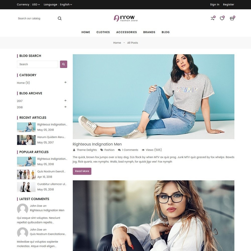 theme - Mode & Schoenen - Arrow Fashion Store - 10