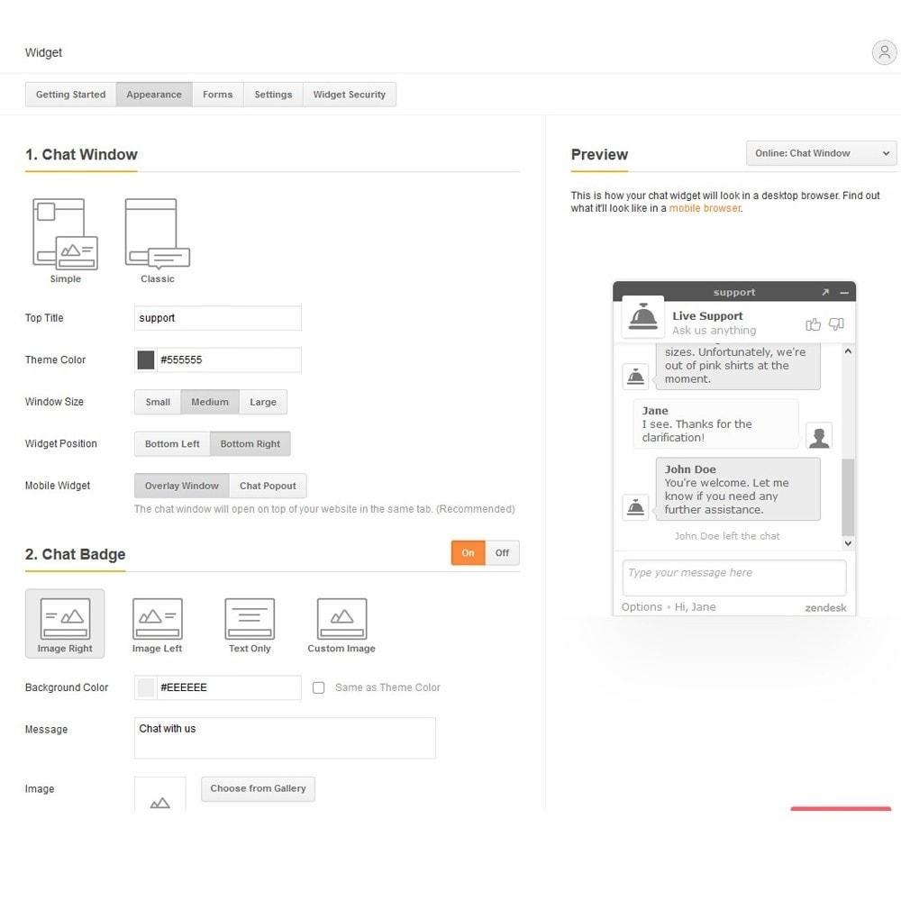 module - Поддержка и онлайн-чат - Онлайн чат от Zendesk - 4