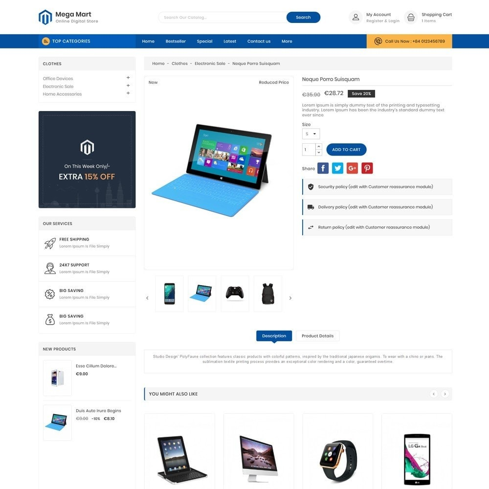 theme - Elektronika & High Tech - Mega Mart Digital Electronics Store - 5