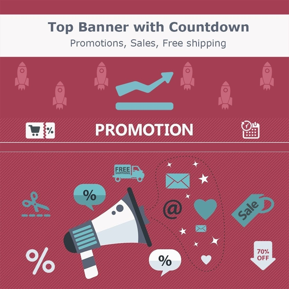 module - Акции и Подарки - Top banner. Promotions, Sales, Free shipping, Countdown - 1